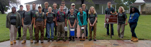 Group photo at National Park Service site